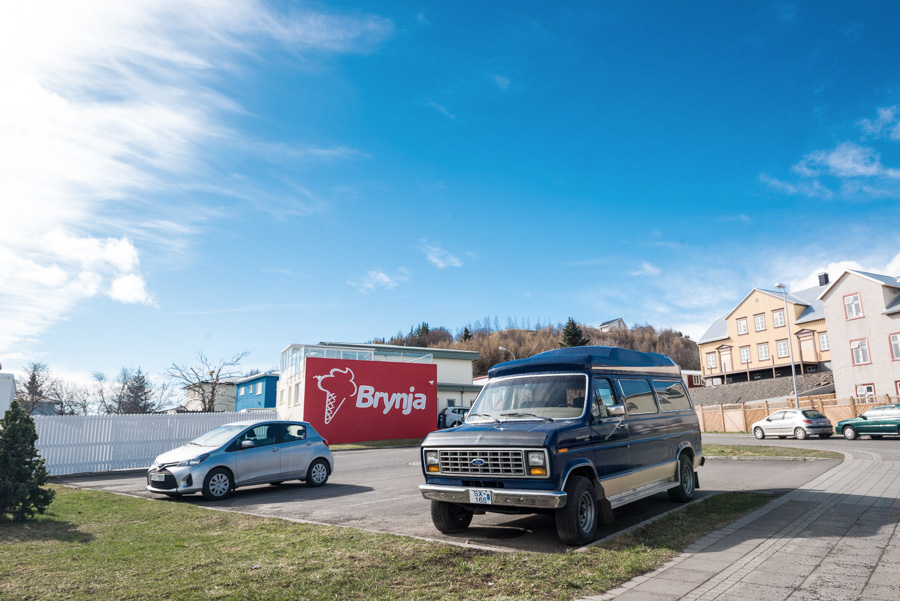 akureyri brynja glacier islande voiture
