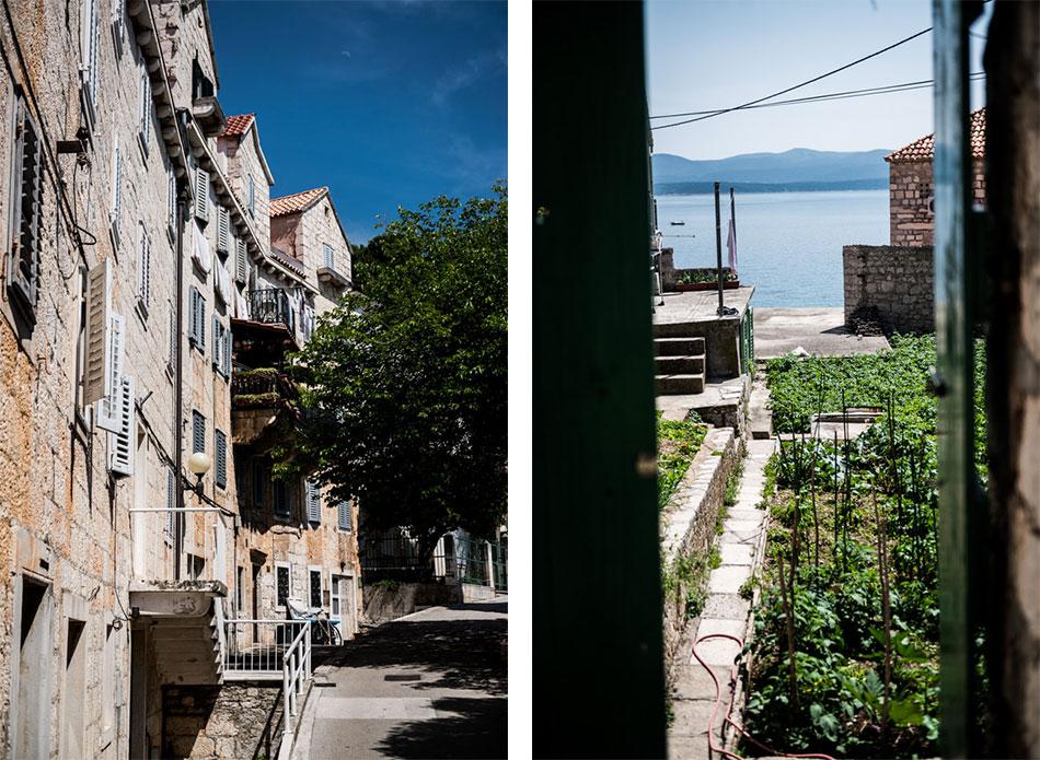 Road-Trip en Croatie - Voyage d'une semaine - village de Bol, dans les rues