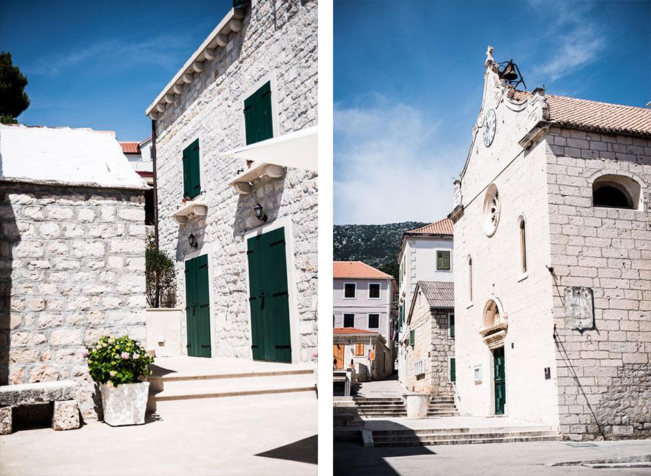 Road-Trip en Croatie - Voyage d'une semaine - village de Bol, ruelles en pierre de Brac