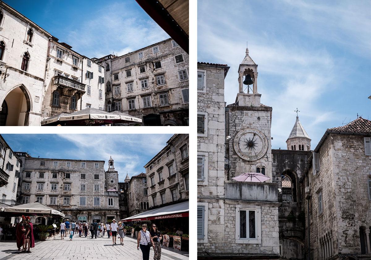 Road-Trip en Croatie - Voyage d'une semaine - Piazza, la place du Peuple à Split