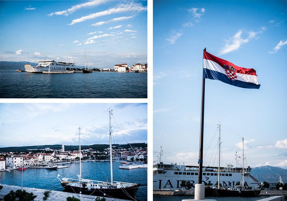 Road-Trip en Croatie - Voyage d'une semaine - coucher de soleil sur le port de Supetar