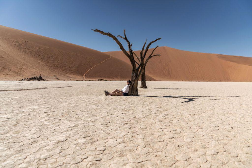 Roadtrip en Namibie, la Dead Vlei située à Sossusvlei dans le désert du Namib