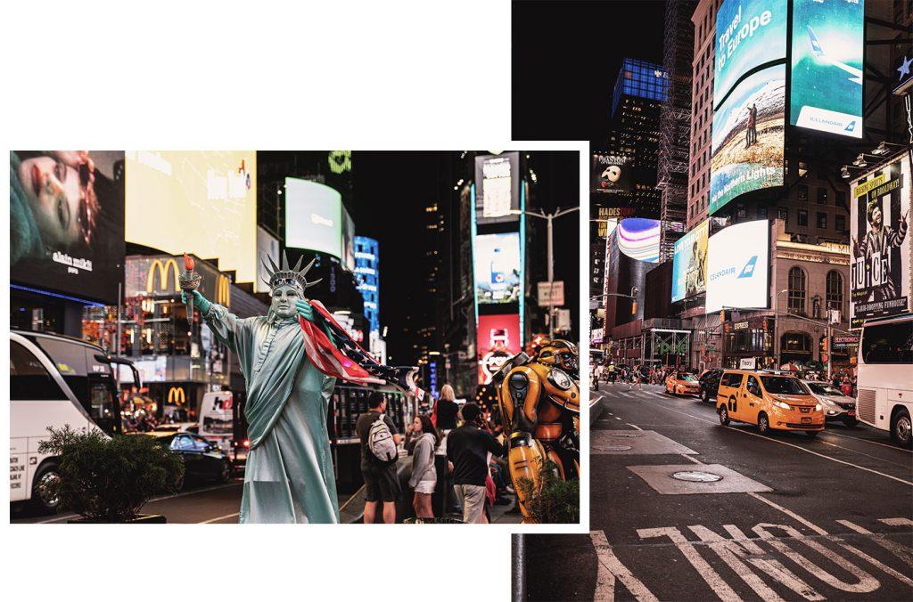 Voyage de 10 jours à New York en septembre 2019 - Times Square de nuit !