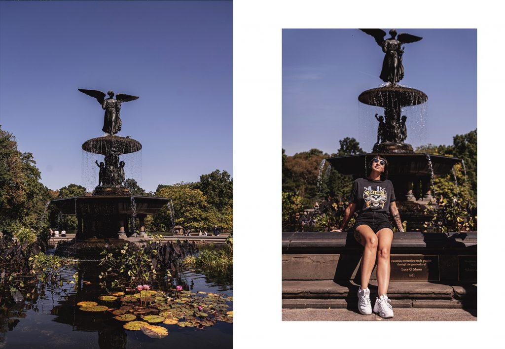 Voyage de 10 jours à New York en septembre 2019 - La célèbre fontaine Bethesda à Central Park