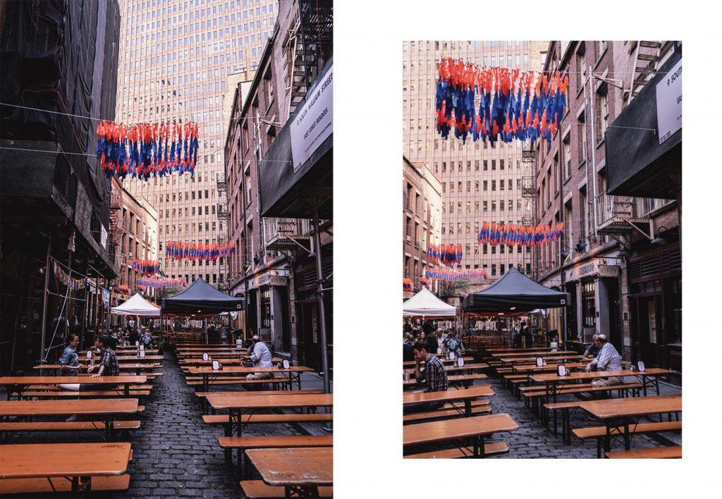 Voyage de 10 jours à New York en septembre 2019 - Pause Déjeuner à Stone Street