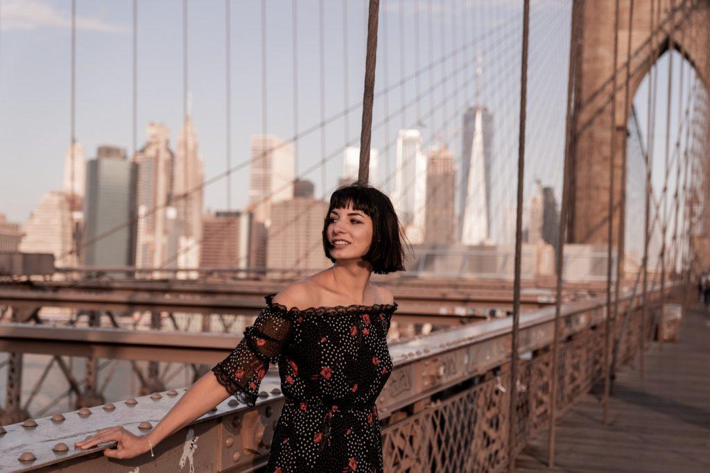 Brooklyn Bridge, New York, au lever du soleil