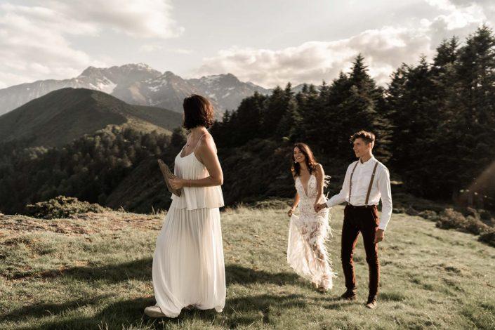 Elopement dans les montages - Pyrénées - Photographe de Mariage - Margaux Gatti
