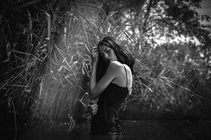 Margaux Gatti - Photographie Nerverland en Noir et Blanc avec Andréa