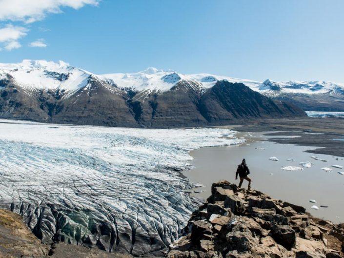 le glacier skaftafellsjokull