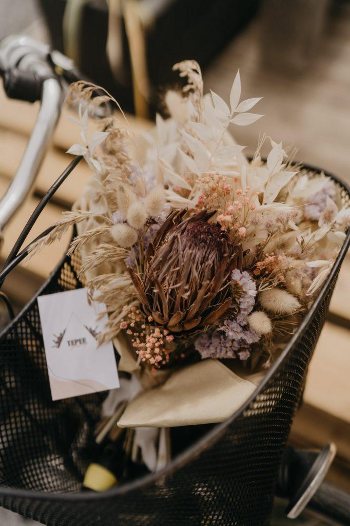 Tepee Sauvage - Bouquet en fleurs séchées - Hossegor
