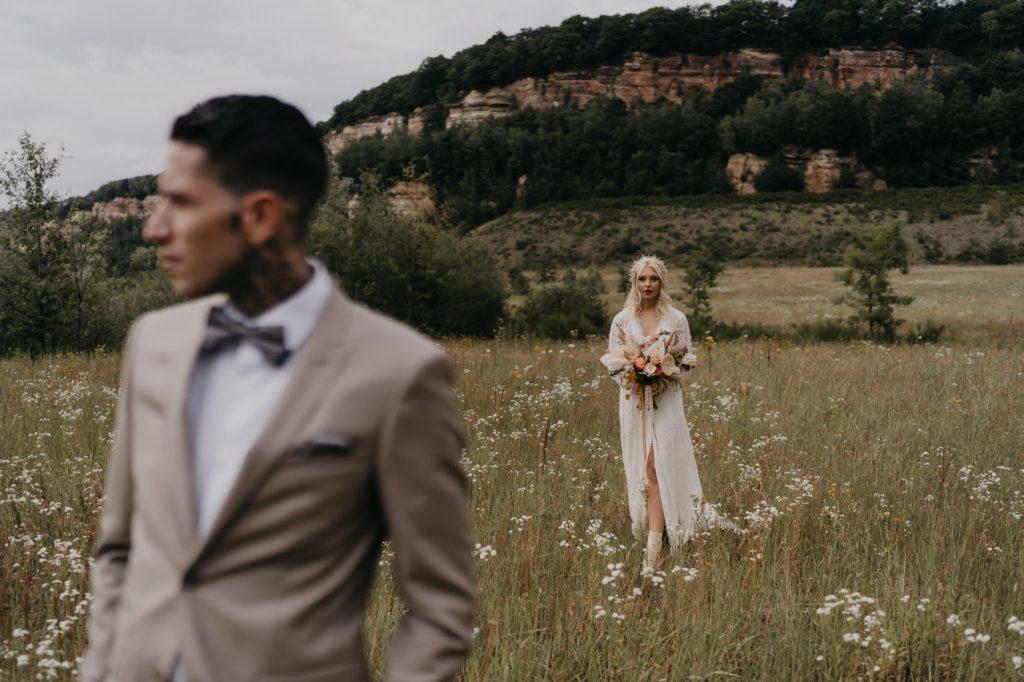 Margaux Gatti Photographe Mariage Metz Lorraine Shooting Western First Look